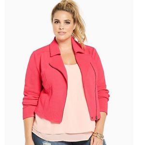torrid pink moto jacket plus size 2x